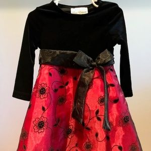 Rare Editions Black & Red Holiday Dress